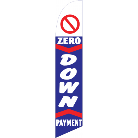 zero down payment feather flag blue width=