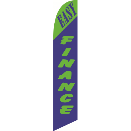 Easy Finance feather flag Blue-Green width=
