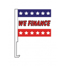 We Finance Clip On Car Flag. Qty 6