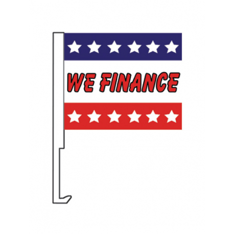 We Finance Clip On Car Flag. Qty 6 width=
