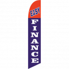 Easy Finance Feather Flag Red & Blue 12ft Poly Knit