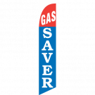 Gas Saver Feather Flag Red & Blue 12ft Poly Knit