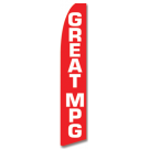 Great MPG feather flag Red