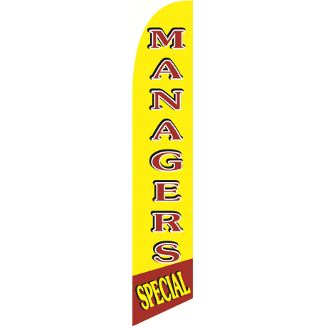 Mangers Special feather flag Red-Yellow width=