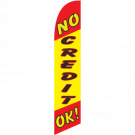 No Credit Ok feather flag Red-Yellow