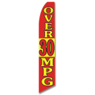 Over 30 MPG feather flag