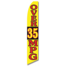 Over 35 MPG feather flag