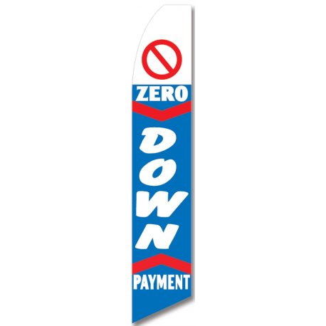 Zero Down Payment feather flag width=