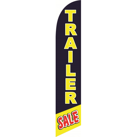 Trailer Sale Feather Flag Blue & Yellow 12ft Poly Knit width=