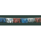 100 ft Red-Silver-Blue Metallic Hula Streamer