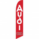 Audi feather flag Red