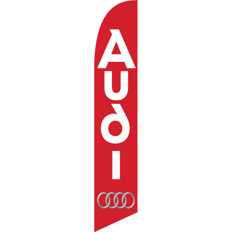 Audi feather flag Red 12ft Poly Knit width=