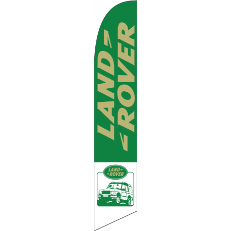 Land Rover feather flag Green width=