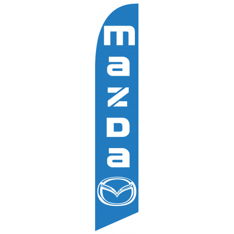 Mazda feather flag Blue width=