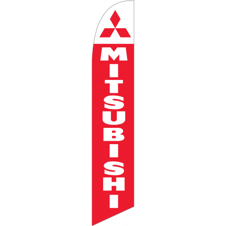 Mitsubishi feather flag Red width=