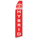 Toyota Hybrid feather flag Red