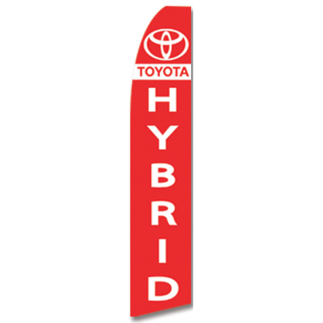 Toyota Hybrid feather flag Red width=