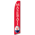 Maserati feather flag Red