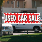 USED CAR SALE banner 3x20 ez293