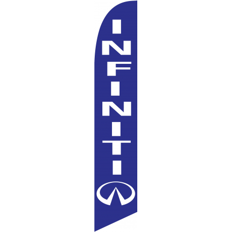 Infinity feather flag Blue width=