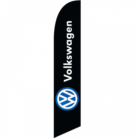 Volkswagon feather flag Black width=