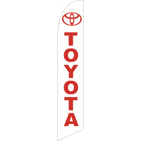 Toyota feather flag White width=