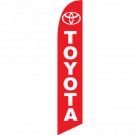 Toyota feather flag Red