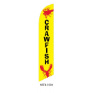 Crawfish Feather Flag Yellow 12ft Poly Knit