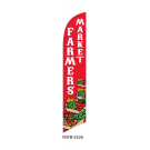 Farmers Market Feather Flag Red 12ft Poly Knit