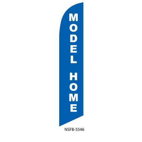 Model Home Feather Flag Blue 12ft Poly Knit width=