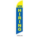 Now Hiring Feather Flag Blue & Yellow 12ft Poly Knit
