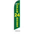 Subway Open 24 hours Feather Flag 12ft Poly Knit