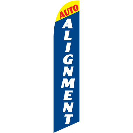 Auto Alignment feather flag width=
