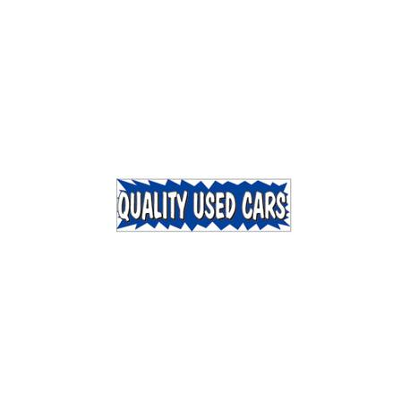 3x10 Banner QUALITY USED CARS ez292 width=