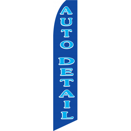 Auto Detail feather flag blue width=