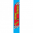 Quality Brake Service feather flag red