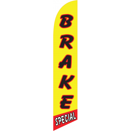 Brake Special Feather Flag Yellow & Red 12ft Poly Knit width=