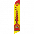 Car Accessories Feather Flag Yellow & Red 12ft Poly Knit