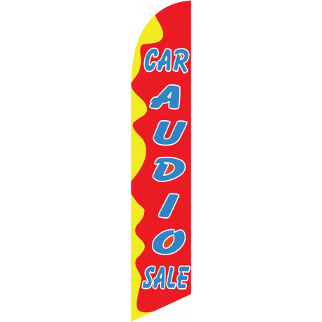 Car Audio Feather Flag Red & Yellow 12ft Poly Knit width=