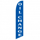 Oil Change feather flag blue