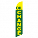 Oil Change feather flag green