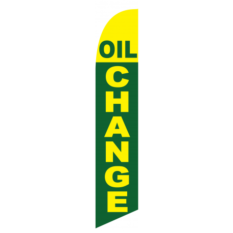 Oil Change feather flag green width=