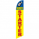 Remote Starter Feather Flag Yellow & Blue 12ft Poly Knit