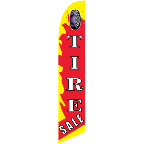Tire Sale feather flag red width=