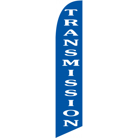 Transmission Feather Flag Blue 12ft Poly Knit width=