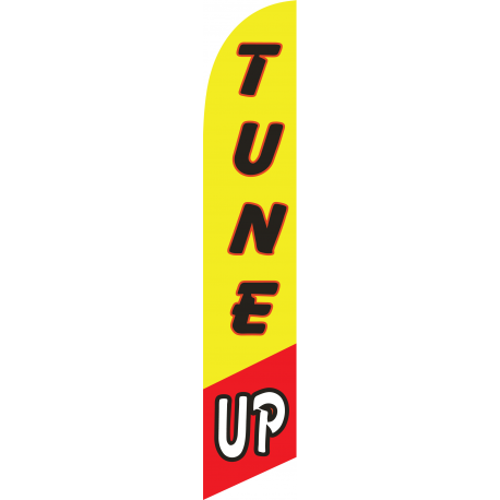 Tune Up Feather Flag Yellow & Red 12ft Poly Knit width=