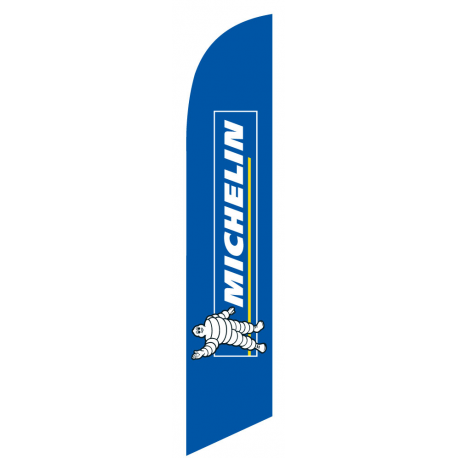Michelin Tire feather flag blue width=
