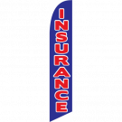 Insurance feather flag blue