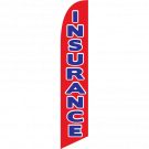 Insurance feather flag red