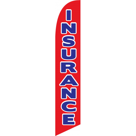 Insurance feather flag red width=